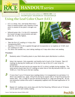 Using the Leaf Color Chart (LCC)