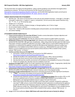NIH Proposal Checklist—R01 New Applications January 2016