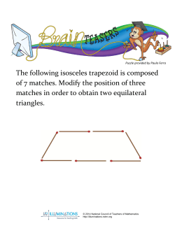 The following isosceles trapezoid is composed of 7