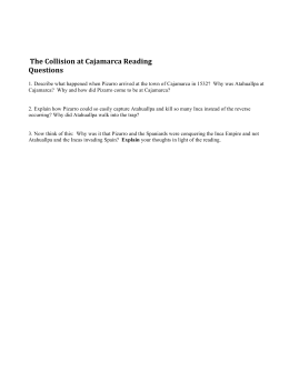 The Collision at Cajamarca Reading Questions