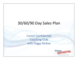 30/60/90 Day Sales Plan - Job-search-success