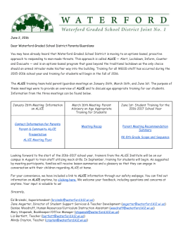 June 2, 2016 Dear Waterford Graded School District Parents