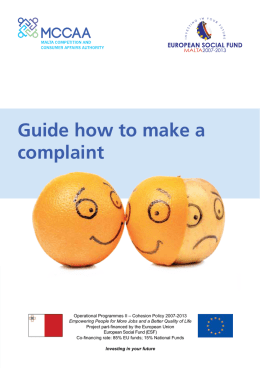 Guide how to make a complaint