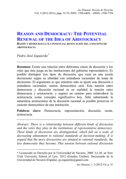 Reason and Democracy: The Potential Renewal of the Idea