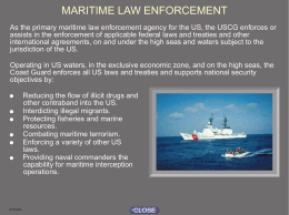 USCG MARITIME LAW ENFORCEMENT