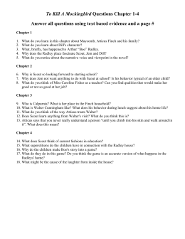 Chapter Questions TKAM - Seaford School District