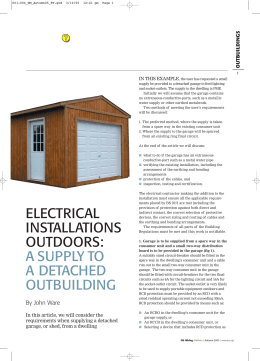 electrical installations outdoors: a supply to a