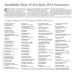 Southlake Best of the Best 2013 Honorees