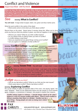 Conflict and Violence - Catholic Social Teaching