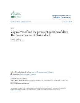 Virginia Woolf and the persistent question of class