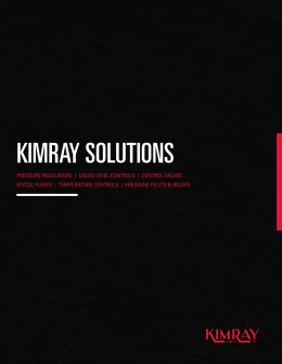 kimray solutions - WIKA Instruments Ltd.