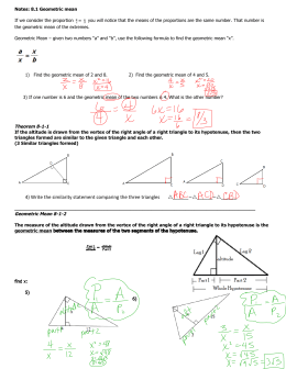 4) Write the similarity statement comparing the three triangles