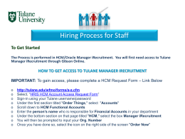 Hiring Process for Staff