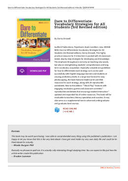 Book // Dare to Differentiate: Vocabulary Strategies for All Students