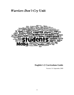 Warriors Don T Cry Essay Popular Essay Writers Site For College