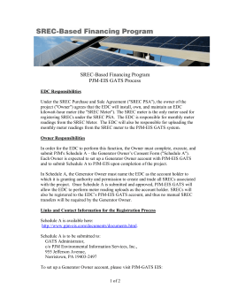 SREC-Based Financing Program PJM-EIS GATS Process