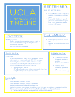 Financial Aid Timeline for UCLA - FSC
