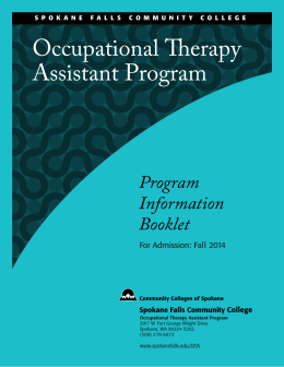 Occupational erapy Assistant Program