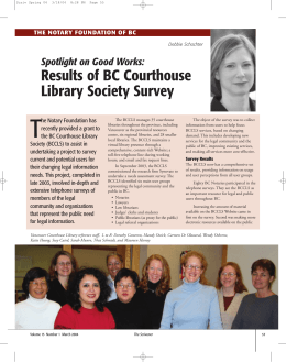 Results of BC Courthouse Library Society Survey