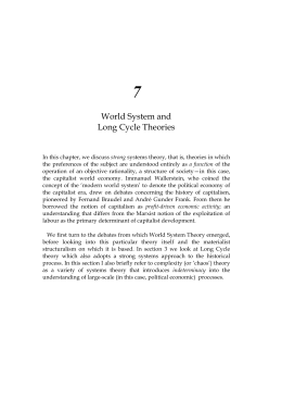 World System and Long Cycle Theories