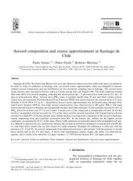Aerosol composition and source apportionment in Santiago de Chile