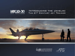 Introducing the Javelin - Israel Aerospace Industries Ltd.