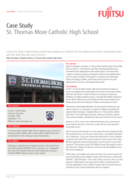 Case Study St. Thomas More Catholic High School