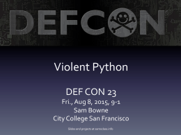 Violent$Python - DEF CON Media Server