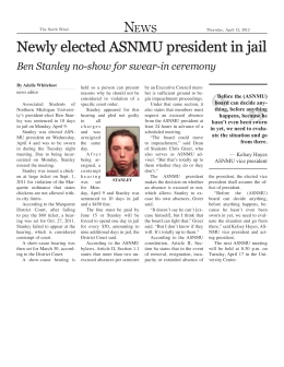 Newly elected ASNMU president in jail