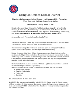 Meeting Notes - Compton Unified School District