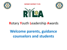 RYLA - Greene Rotary Club