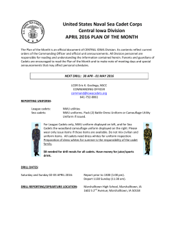 United States Naval Sea Cadet Corps Central Iowa Division APRIL