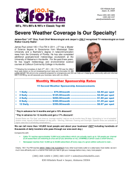 Severe Weather Coverage Is Our Specialty!