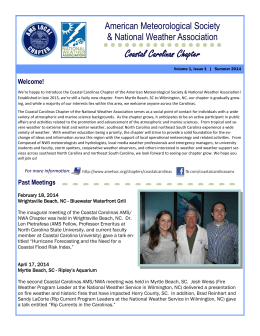 Chapter Newsletter - American Meteorological Society