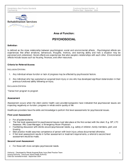 psychosocial - Vancouver Island Health Authority