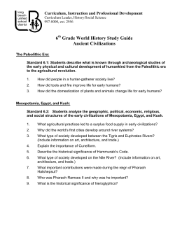 6th Grade World History Study Guide Ancient Civilizations