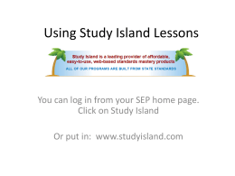 Using Study Island Lessons