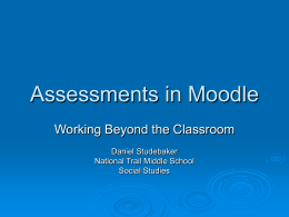 Assessments in Moodle File