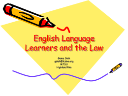 English Language Learners and the Law - Mrs-Siehs-ESL-Wiki