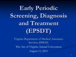 EPSDT - The Arc of Virginia