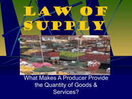 Law of Supply - Caddo Mills ISD