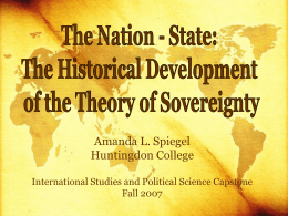 The Theory of Sovereignty