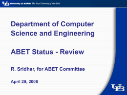 Department of Computer Science and Engineering ABET Status