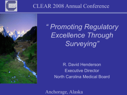 Promoting Regulatory Excellence Through Surveying