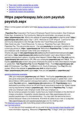 Https paperlesspay.talx.com paystub paystub.aspx