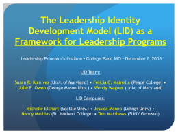 The Leadership Identity Development Model