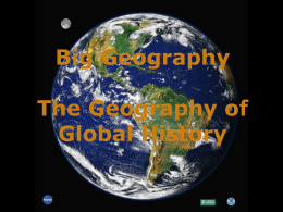 Big Geography - World History for Us All