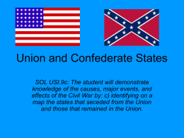 Confederate, Union, and Border States