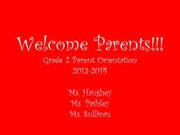 Welcome Parents!!! - Hudson Cliffs School PS/IS 187