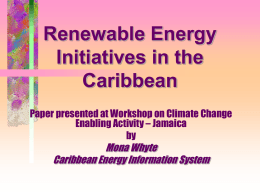 The Caribbean Renewable Energy Development Project